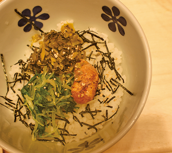 火灸明太子高菜湯汁茶泡飯/680日圓