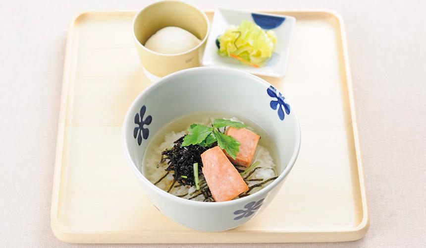 燒鮭魚昆布湯泡飯