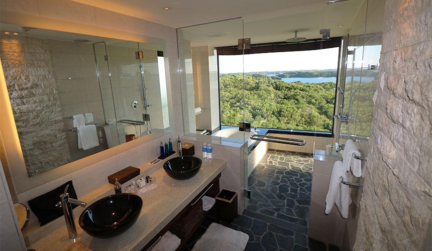 一邊欣賞伊勢志摩獨特的島嶼海景,一邊享受私人的泡澡時光,真是太幸福了!