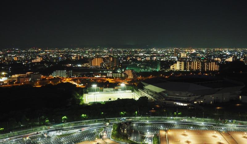 從摩天輪往外一覽城市夜景