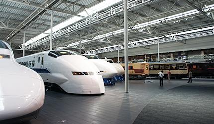 歷代新幹線及在來線的實體車輛展示