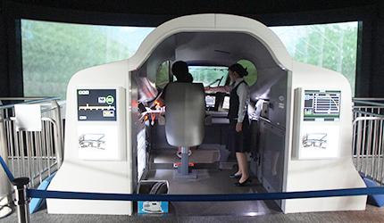 N700系新幹線的駕駛模擬區