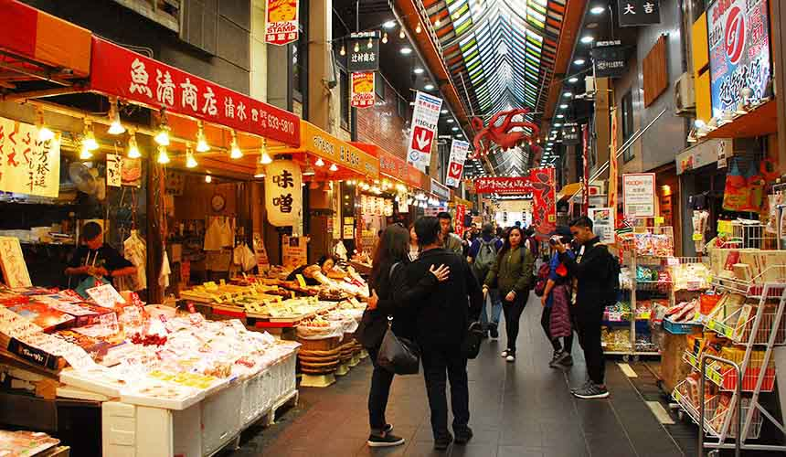 黑門市場內有許多商店