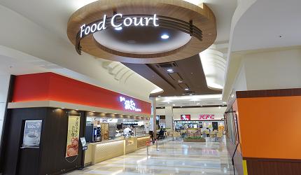 大阪關西機場附近大型購物中心「AEON MALL永旺夢樂城臨空泉南」的「Food Court 美食廣場」