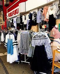 鶴橋流行服飾商店購物