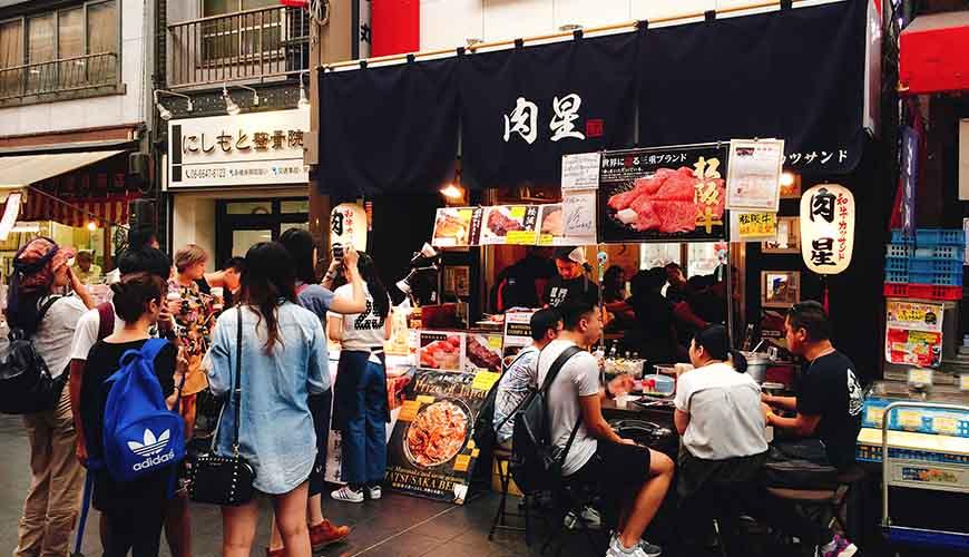 黑門市場的肉星是松阪牛肉專賣店