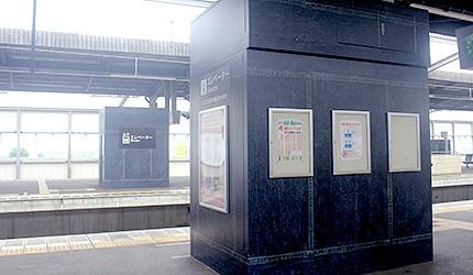 日本岡山JR兒島站電梯