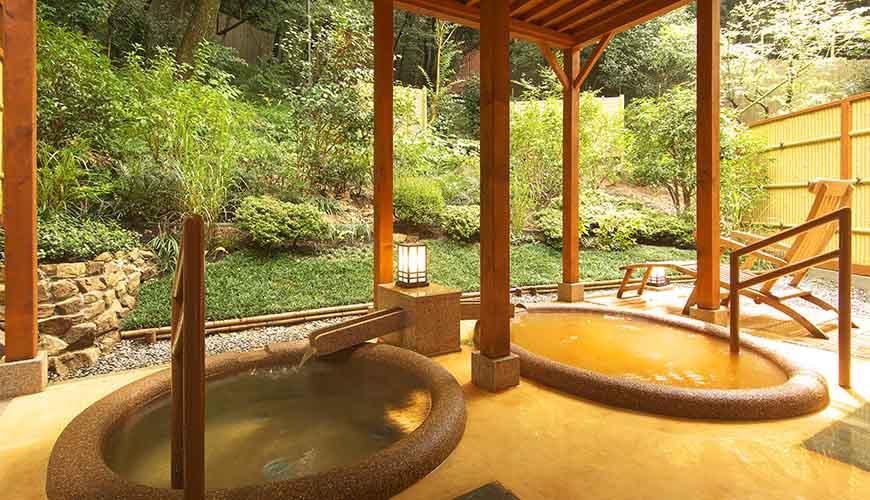 有馬溫泉竹取亭円山的露天溫泉包廂湯屋