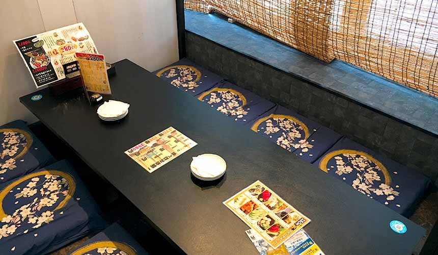 大阪難波一八屋的和室座席包廂