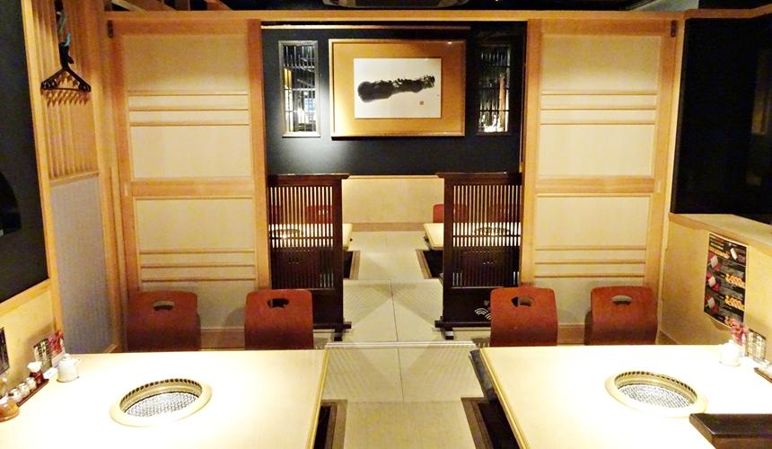 心齋橋燒肉店黑毛和牛燒肉一的和室座席