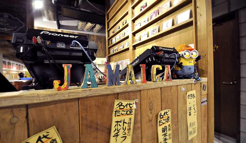 大阪牙買加店內裝潢使用了許多牙買加元素
