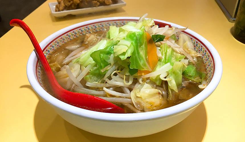 大阪必吃拉麵店「神座」的鮮蔬美味拉麵(野菜たっぷりラーメン)