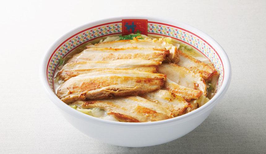 大阪必吃拉麵店「神座」的加倍叉燒美味拉麵(半チャーシューラーメン)