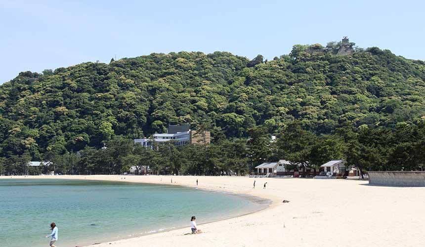 淡路島的大浜海水浴場