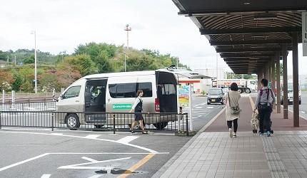 日本山陽山陰岡山自駕租車推薦「TOYOTA Rent a Car」的岡山機場接駁專車