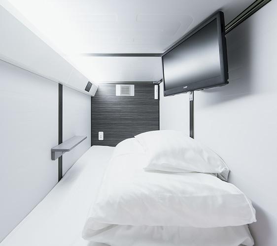 京都膠囊旅館「Capsule Resort Kyoto Square」的基本膠囊房
