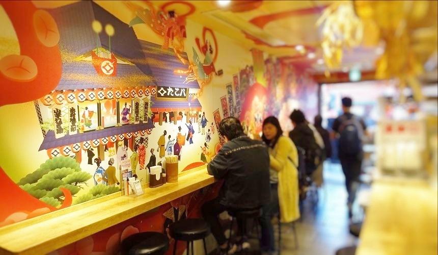 人氣章魚燒店TAKO八(たこ八)一樓用餐場所
