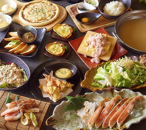 大阪道頓堀「蟹櫻」的嚴選螃蟹豪華套餐