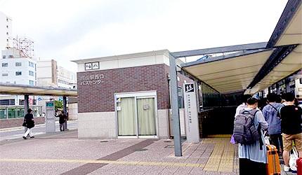 JR岡山站巴士中心候車處