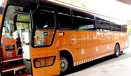 JR岡山站利木津巴士機場接駁車外觀
