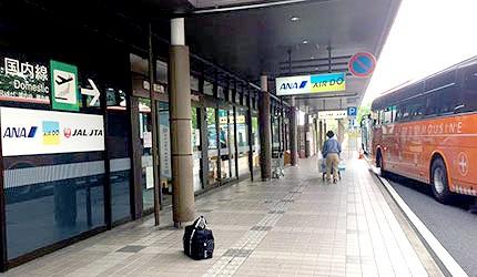 岡山機場利木津巴士機場接駁車下車處