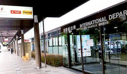 日本岡山機場國際線門口