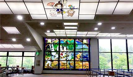 日本岡山機場國際線2樓桃太郎屋頂壁畫
