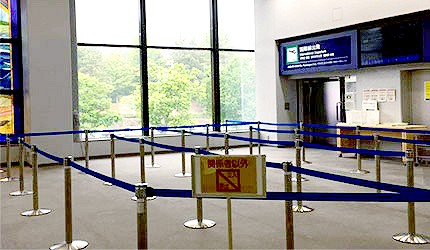 日本岡山機場國際線2樓入關處