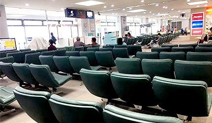 日本岡山機場國際線入關休息區