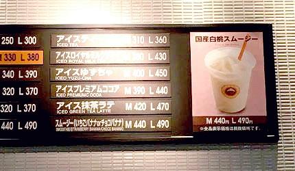 ST.MARC CAFÉ岡山機場店白桃冰沙果汁果昔