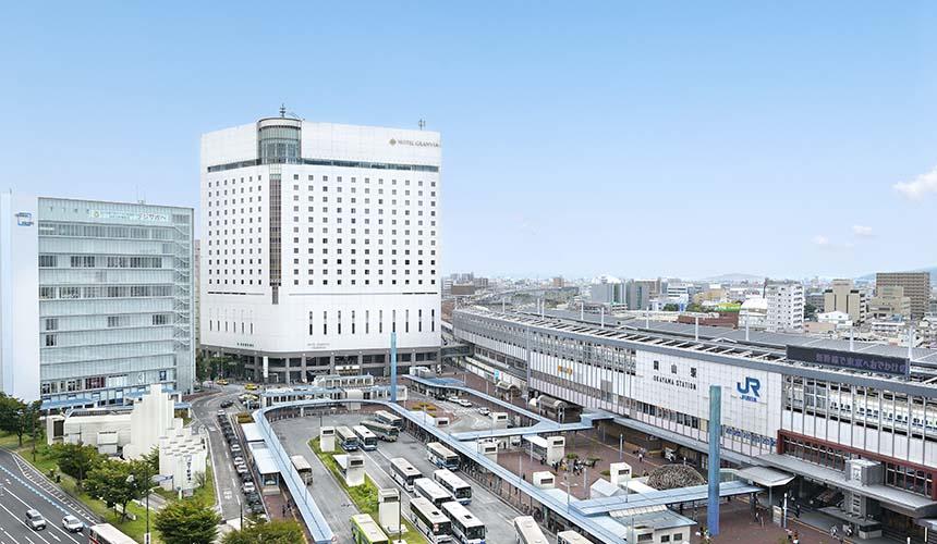 岡山車站附近的飯店Hotel Granvia Okayama