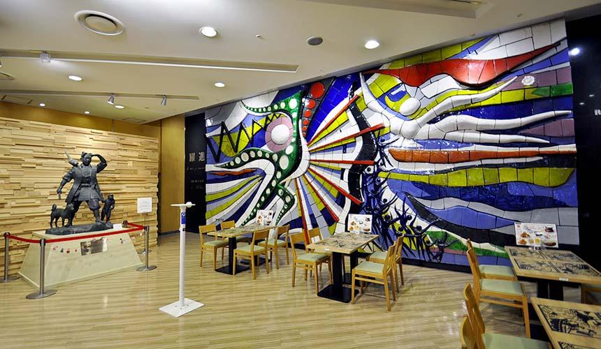 岡山車站岡本太郎「躍進」陶版裝置藝術