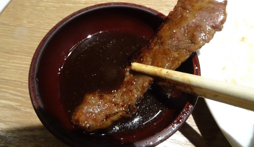 大阪心齋橋的黑BEKO屋的燒肉醬油清爽