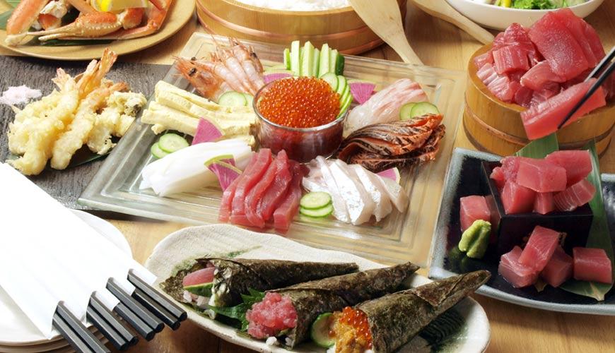 大阪天王寺「魚壱商店」海鮮居酒屋,享用和歌山漁港直送超大份量厚切鮪魚生魚片
