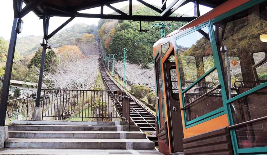黑川站搭乘妙見森林鐵道小火車