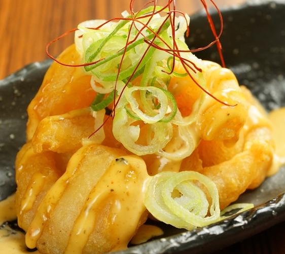 大阪心齋橋居酒屋「きんいち花鳥風月」起司炸薯餅
