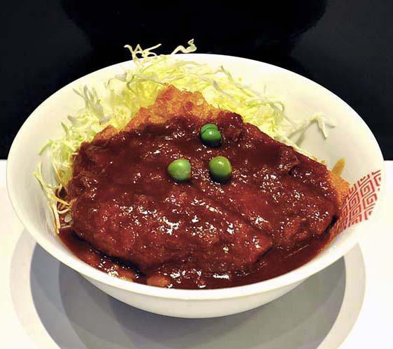 岡山拉麵&デミカツ丼'(醬汁豬排丼')套餐(半份)