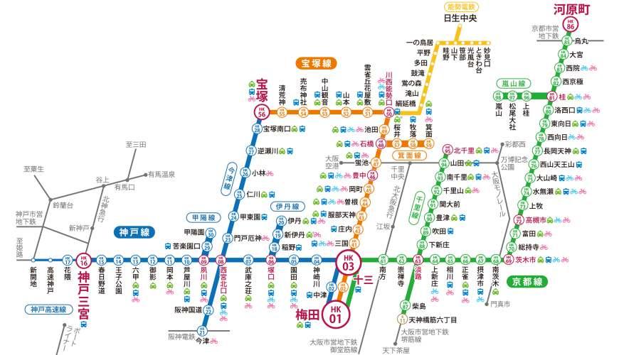 阪急電鐵路線圖