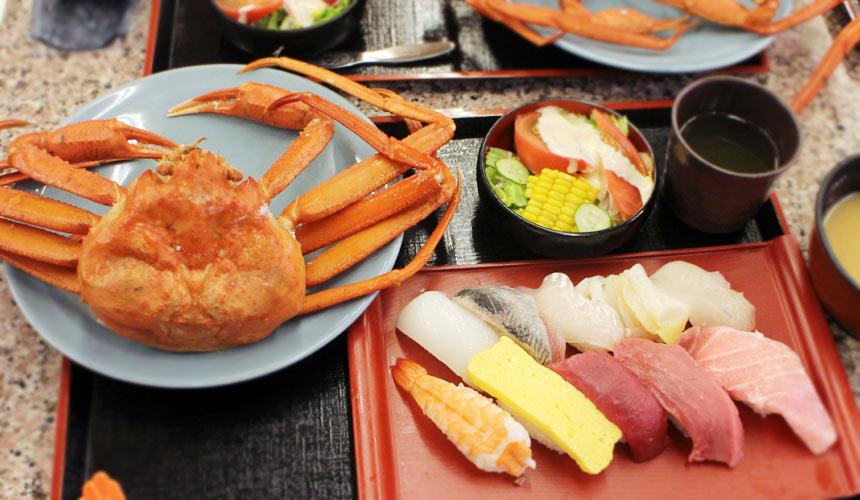 鳥取大漁丸迴轉壽司餐廳螃蟹套餐