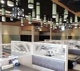 京都河原町燒肉店「あぶりや」的店內京都風裝潢
