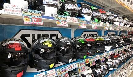 大阪機車部品店「Bike World」Shoei的人氣安全帽