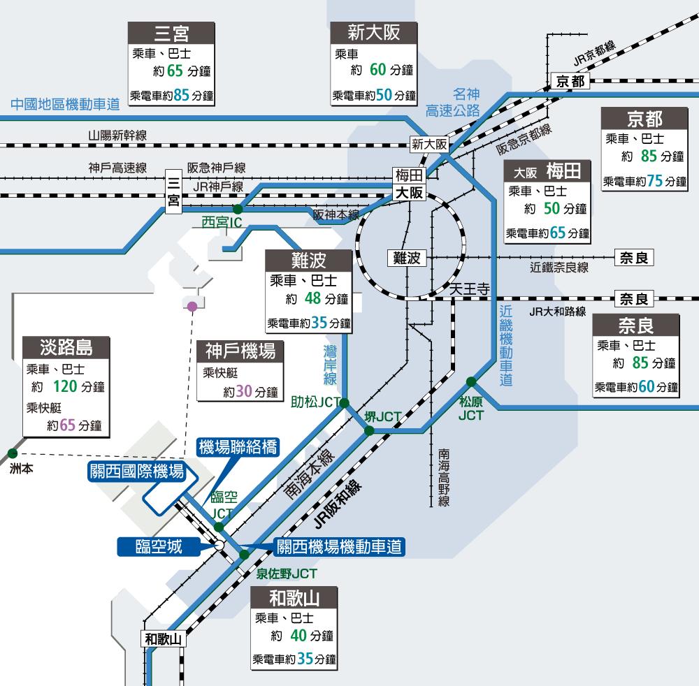 关西国际机场到大阪交通大解密!各种电车巴士一次搞清楚!