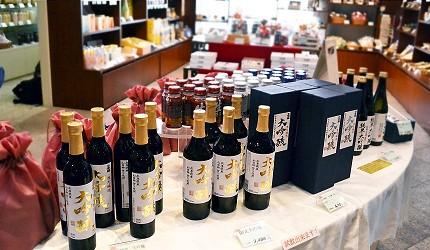 日本盛酒藏通煉瓦館伴手禮種類豐富