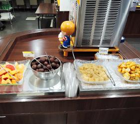 大阪⇌九州交通推薦:「名門大洋渡輪」上的甜點、水果