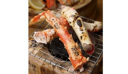 難波站徒步1分鐘螃蟹吃到飽大阪居酒屋「蟹DARUMA」烤松葉蟹(ずわい蟹焼き)980日圓