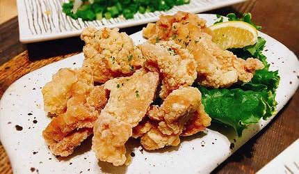 道頓堀居酒屋美食酒吧「大阪牙買加」的炸雞腿肉(鶏もも唐揚げ)