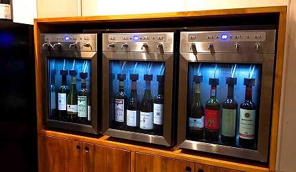 道頓堀居酒屋美食酒吧「大阪牙買加」的頂級紅酒冰庫