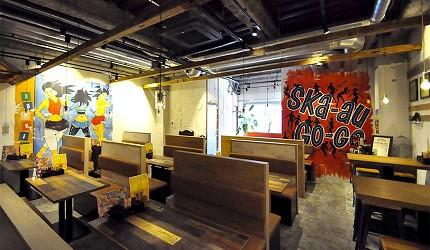 道頓堀居酒屋美食酒吧「大阪牙買加」的店內用餐空間