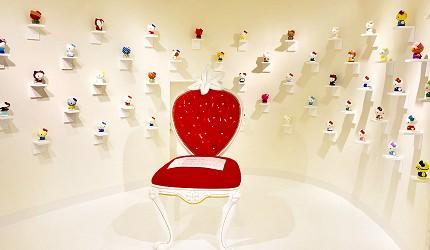 日本兵庫淡路島大型「HELLO KITTY SMILE」海景主題餐廳的Hello Kitty的藝廊空間