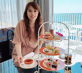 日本兵庫淡路島大型「HELLO KITTY SMILE」海景主題餐廳「Smile Restaurant」的下午茶咖啡館「Party Balcony」超夢幻下午茶